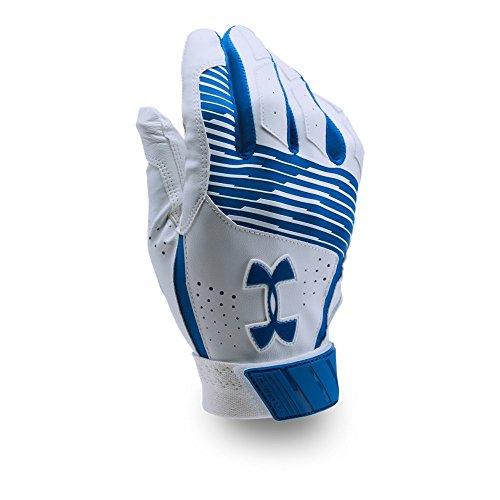 Under Armour Men's Clean Up Baseball Batting Gloves, (400)/Royal, Large ()