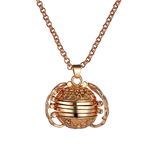 - Aineecy Photo Wings Necklce Pendant Personalized Custom Photo Ball Choker Necklace Locket Pictures Frame 4 Four for Women Girls Graduation Jewelry(Gold)