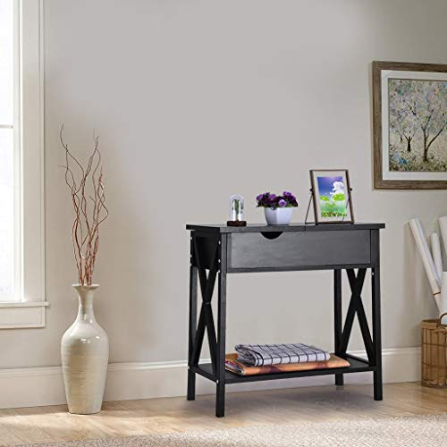 - Sodoop Flip Top Table, Modern American Heritage Flip Top End Table Console Sofa Side Table Coffee Table with Storage Cabinet