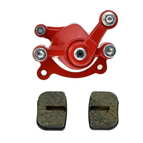 Red Disc Brake Caliper Replaced Pad for 97cc 2.8HP DB30 Baja Doodle Bug Mini Dirt Bike Moto Classic Electric Razor MX500 33cc Motovox MVS10 43cc 47cc 49cc Moto ATV Gas -