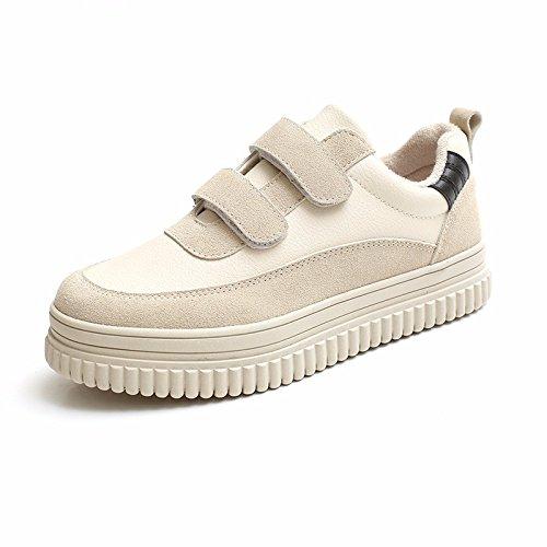 42f0948e9 xiao123 Spring Velcro Plataforma Mujer Zapatillas Negro Moda Simple Estilo  Harajuku Pequeños Trabajos Frescos Estudiante Roma Cómodo: Amazon.es:  Zapatos y ...
