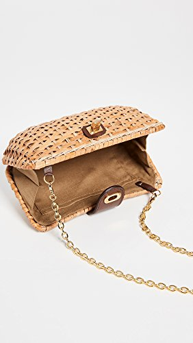 Women's Wicker Natural Clutch Crete Kayu B6RnfCq6
