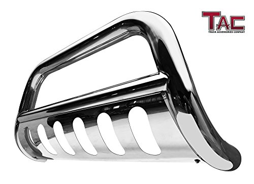 TAC Bull Bar Fit 2011-2016 Ford Super Duty F250 / F350 / F450 / F550 Pickup Truck 3 inches Stainless Steel Front Bumper Guard Grille Guard Brush Guard Off Road Exterior Accessories