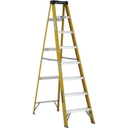 Non Conductive Fiberglass Slip Resistant Aluminum Steps Ladder by Louisville Ladder (Image #1)