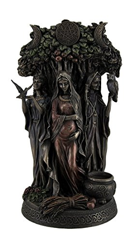 - Resin Statues Danu Irish Triple Goddess of The Tuatha De Danann Bronze Finish Statue 6 X 10.5 X 5 Inches Bronze
