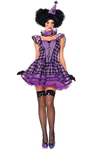 Pretty Parisian Clown Costume - Medium/Large - Dress Size 8-12 - Pretty Parisian Clown Adult Costumes
