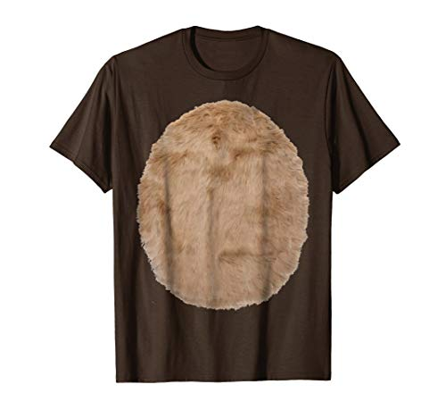 Deer Belly Reindeer Fur Print Reindeer Costume Funny Shirt