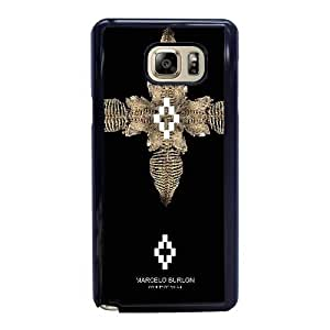 Custom made Case,Marcelo Burlon Cell Phone Case for Samsung Galaxy Note 5, Black Case With Screen Protector (Tempered Glass) Free S-7302779