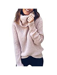 Fashion Story Ladies Sweater Rich Knit Long Sleeve Pullover Roll Neck Jumper