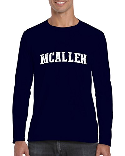 McAllen TX Texas Flag Houston Map Longhorns Bobcats Home Texas State Mens Long Sleeve - Tx Sports Mcallen Mcallen