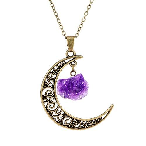 handmade-ancient-bronze-amethyst-necklace-charms-raw-amethyst-crescent-necklace-birth-necklace-fashi