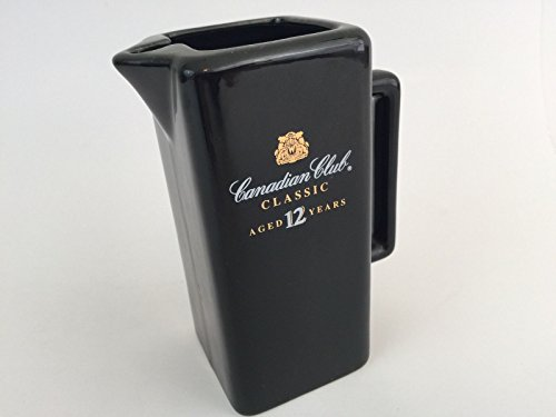 Canadian Club Classic Pitcher Aged 12 Years Ceramic Barware Collectible Black