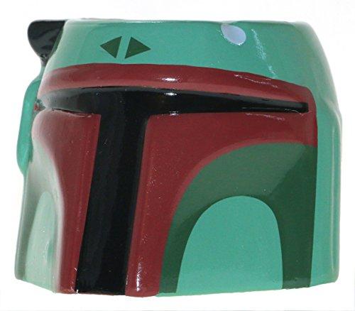 11 Oz Sculpted Ceramic Mug - Star Wars Boba Fett Sculpted 11oz Mug, Green
