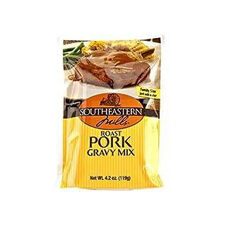 Southeastern Mills Roast Chicken, Roast Pork or Classic Brown Gravy Mix (Roast Pork, 4 Packets)