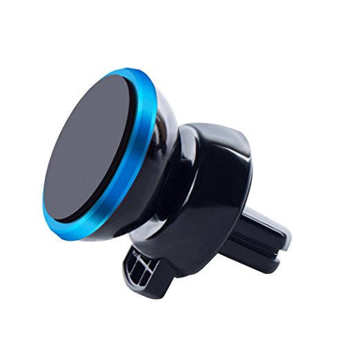 Lywey Universal 360° Rotating Car Magnetic Holder Mount Stand For Mobile iPhone X PDA GPS (Blue)
