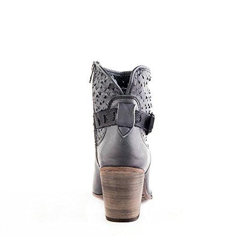 Felmini - Zapatos para Mujer - Enamorarse com Leiria 8689 - Botas con tacones - Cuero Genuino - Negro - 0 EU Size Negro