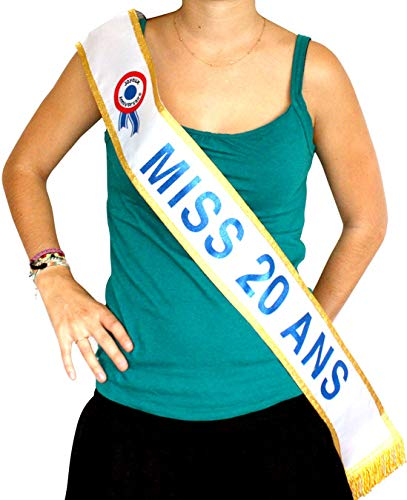 Generique - Echarpe Miss 20 Ans  Amazon.fr  Jeux et Jouets d0abeec6c83