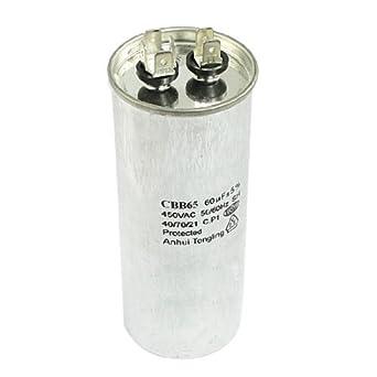 CBB65 60uF 450V AC Aire acondicionado Compresor Condensador Correr: Amazon.es: Industria, empresas y ciencia