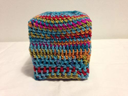 Tissue Cover square multiple colors crochet tub cloths shower curtains