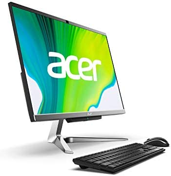 Acer Aspire C24-963-UA91 AIO Desktop, 23.8″ Full HD Display, 10th Gen Intel Core i3-1005G1, 8GB DDR4, 512GB NVMe M.2 SSD, 802.11ac Wi-Fi 5, Wireless Keyboard and Mouse, Windows 10 Home