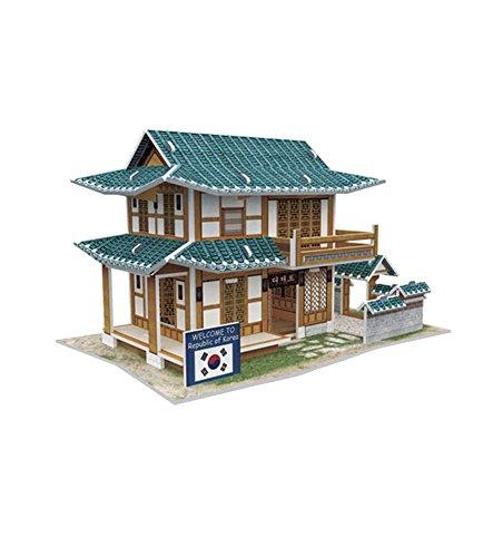 Korean Pastry Shop 3D House Paper Model