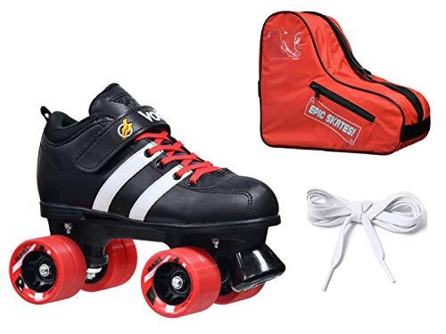 Riedell Custom Red Volt Quad Derby Speed Roller Skate 3 Pc.