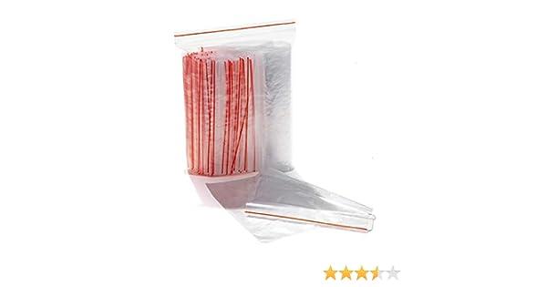 Lot de 100 sachets en plastique transparent avec fermeture éclair 14 x 20 cm