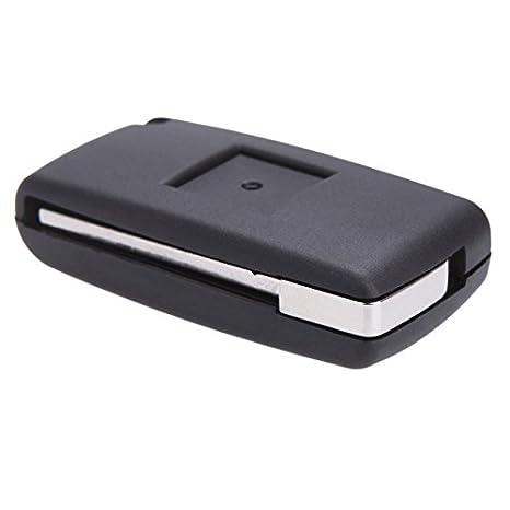 Cikuso Cascara de Llave Caja de Llave Llavero de Coche Remoto Plegable del tiron para Peugeot 407 307 308 607 3 Botones