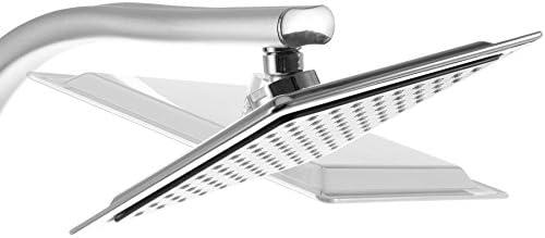 TecTake Conjunto de ducha con rociador manual modelo | Cabezal de ducha fijo con 100 orificios | Posición del rociador superior articulada: Amazon.es: Bricolaje y herramientas