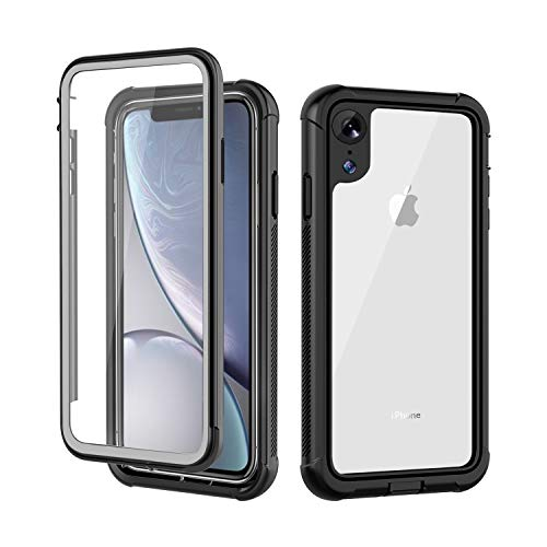 iPhone XR Case, AIYUE Anti-Scratch Built in Screen Protector, Full Body Protection, Wireless Charging Support, Dustproof Shock Drop Proof Rugged Durable Case for iPhone XR 2018 Release(Clear)
