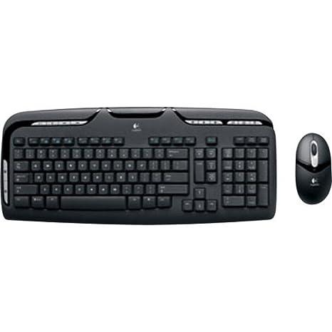Logitech Cordless Desktop® EX 110 - Teclado (RF inalámbrico, Negro, Óptico, Pentium, AAA/AA, 1 x USB/2 x PS/2): Amazon.es: Informática