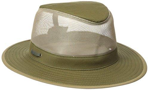 Henschel Soft Brushed Cotton Aussie Breezer Hat, Olive, Medium