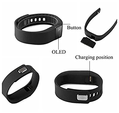 Didakay Get-Fit 2.0 Smart Activity Fitness Tracker w/ App + Free E-book - Monitor Health Bits & Charge Ahead: Steps, Distance, Call-Drink & Sedentary Reminder, Sleep Cycle, Wake up Alarm