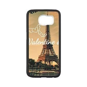 Tobe Eiffel Tower valentine cute Custom Case for SamSung Galaxy S6(Laser Technology)