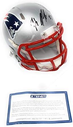 Rob Gronkowski Autographed//Signed New England Speed Mini Helmet
