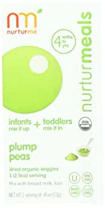 Nurturme Organic Baby Food Pouches, Plump Peas, 0.46 Ounce Pouch (Pack of 48)