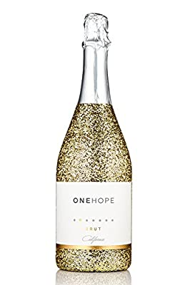 NV ONEHOPE Brut Champagne, Gold Glitter Bottle Edition, 750 mL from ONEHOPE Wine