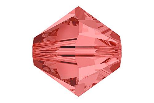24 pcs Swarovski Crystal Bicone 5301/5328 Beads, Padparadscha, 8mm