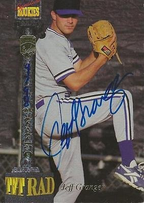 (Jeff Granger 1994 Signature Rookies Certified Autograph Card RC #/7750 Royals)
