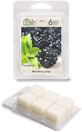 Country Jar BlackBerry SAGE Soy Wax Melts/Tarts (2.75 oz. 6-Cube Pack) Pick 3 Sale! 3 or More (Mix or Match)