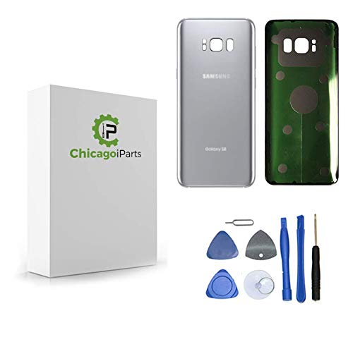 for Samsung Galaxy S8 Back Cover - Rear Glass Replacement Part with Adhesive & Tools - New OEM (Arctic Silver)