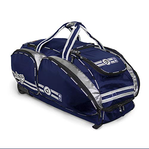 - NO Errors NO E2 Catchers Bag with Fatboy Wheels - Wheeled Baseball Equipment Gear & Helmet Bags (Navy)