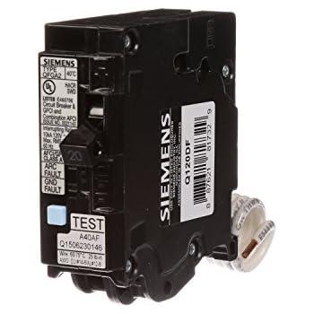 siemens q120df 20 amp afci gfci dual function circuit breaker plug rh amazon com