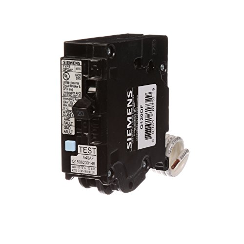 Wiring 20a Breaker - Siemens Q120DF  20-Amp Afci/Gfci Dual Function Circuit Breaker, Plug on Load Center Style