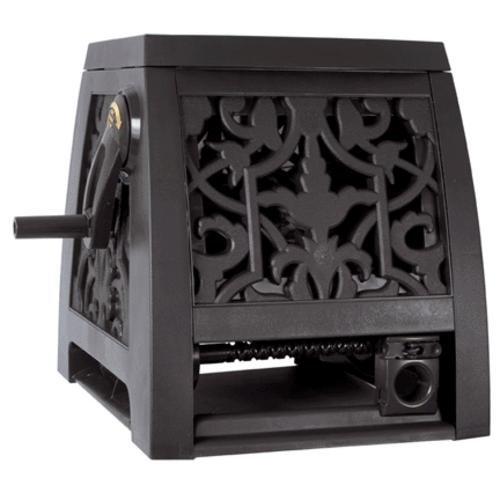 The AMES Companies, Inc NeverLeak Auto-Track Poly Wrought Iron Designer Series Hose Cabinet 225-Feet Hose Capacity - 2391375NL - 225 Garden Hose Reel