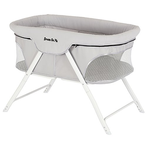 Dream On Me Traveler Portable Bassinet, Cloud Grey ()