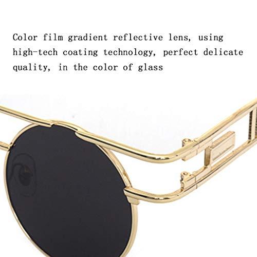Sol Los Gafas NDY De Coloridas Hombres De Retros Las Sol Los De Las Gafas De Gafas White Brown De Vidrios De Sol De Retros qERfwf