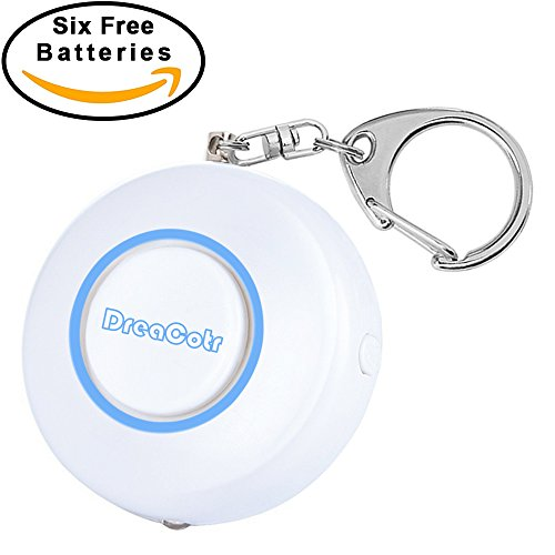 Dreacotr Personal Alarm,130DB Safety Emergency Self-Defense Security Alarms with LED Flashlight,Safesound Personal Alarm Keychain for Women Kids Elderly Students Night Workers(Blue)