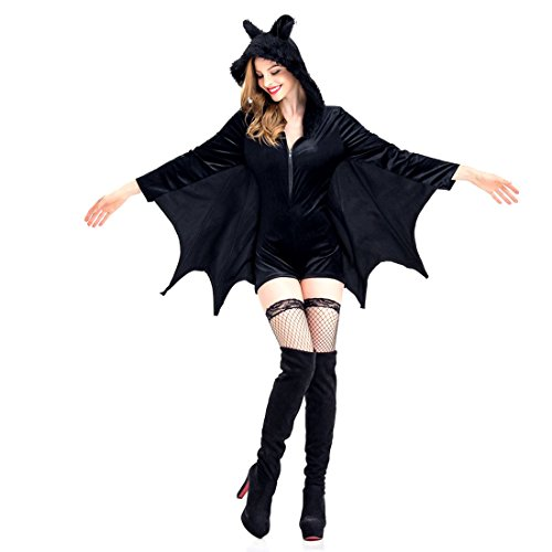 Cowboys And Indians Party Costume Ideas (Slocyclub Women Black Ox Horn Demon Party Costume)