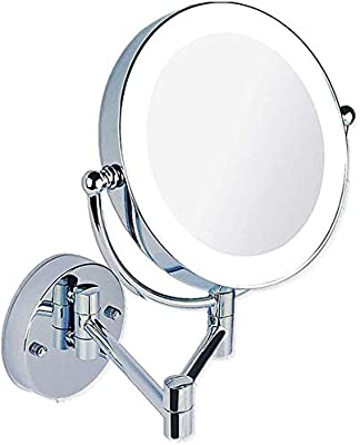 Xykx Cosmetic Mirror 8 Inch Bathroom Mirror Shaving Mirrors Make Up Wall Mounted Led Illuminated Mirror Switch Dimming Swivel Wall Mount Mirror 7xmagnifying Color 5xmagnifying Amazon Ae